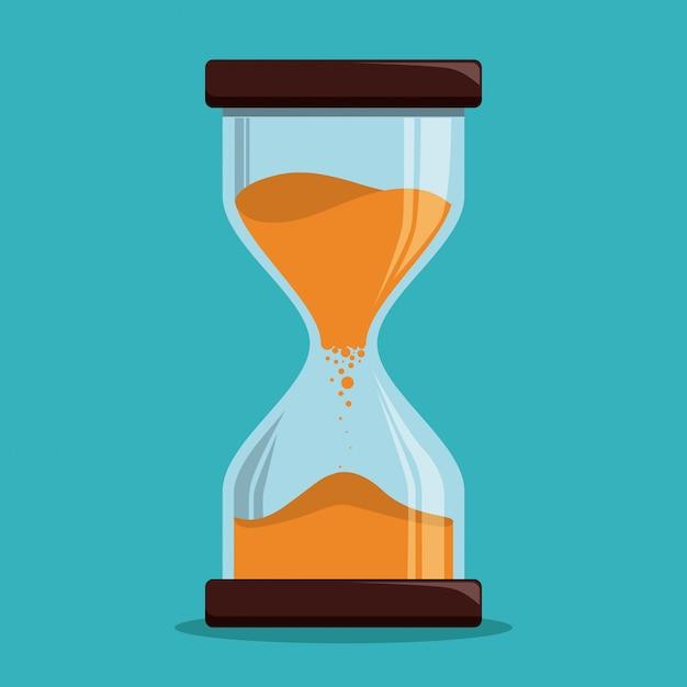 Tijd ontwerp, vectorillustratie. Premium Vector
