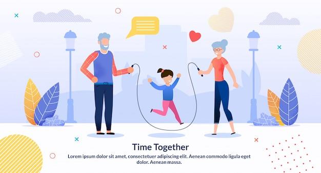 Tijd samen illustratie Premium Vector
