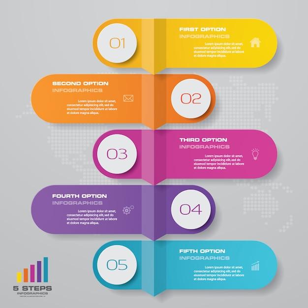 Tijdlijn grafiek infographic element. Premium Vector