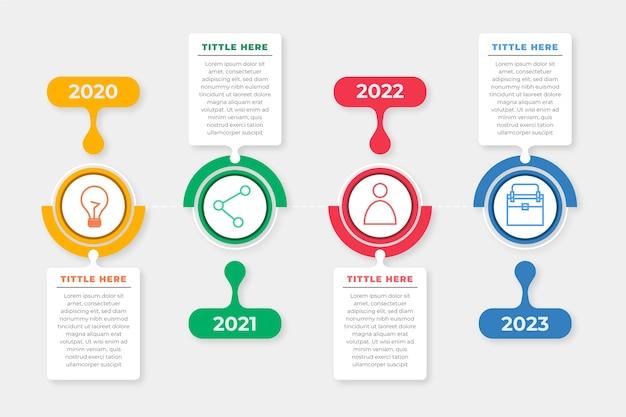 Tijdlijn infographic collectie Gratis Vector