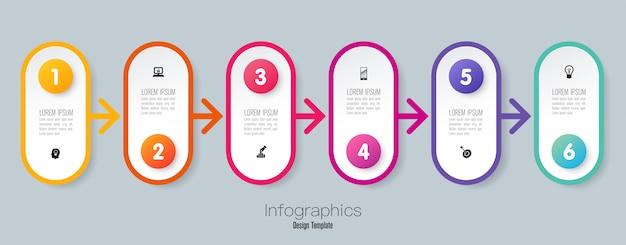 Tijdlijn infographic elementen Premium Vector
