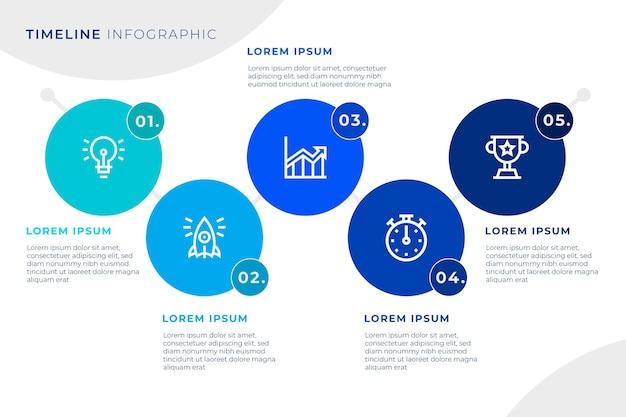 Tijdlijn infographic sjabloonontwerp Gratis Vector