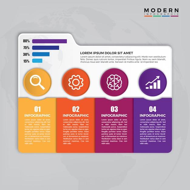 Tijdlijn infographic Premium Vector