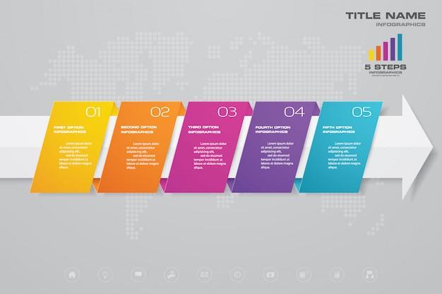 Tijdlijn infographics element Premium Vector
