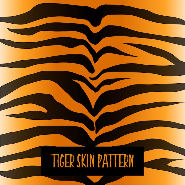 Tijger huid patroon textuur ontwerp Gratis Vector