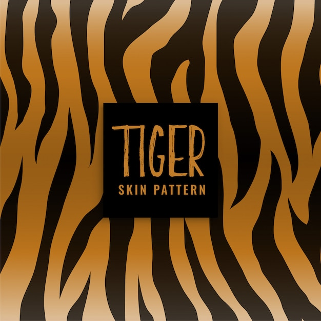 Tijger huidtextuur print patroon Gratis Vector