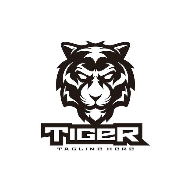 Tijger illustratie mascotte-logo Premium Vector