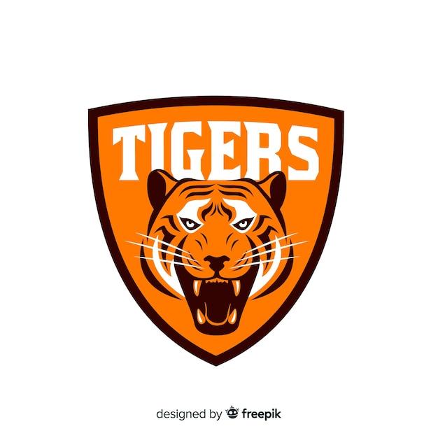 Tijger logo achtergrond Gratis Vector