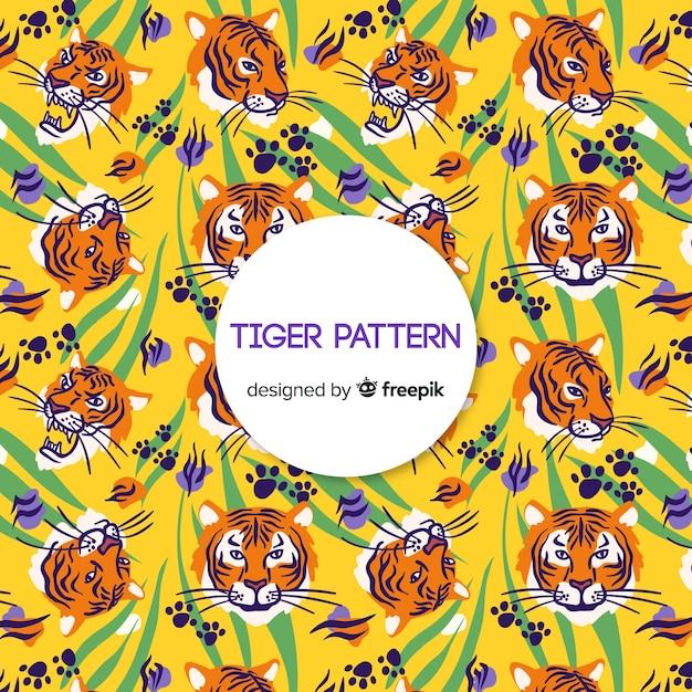 Tijger patroon Gratis Vector