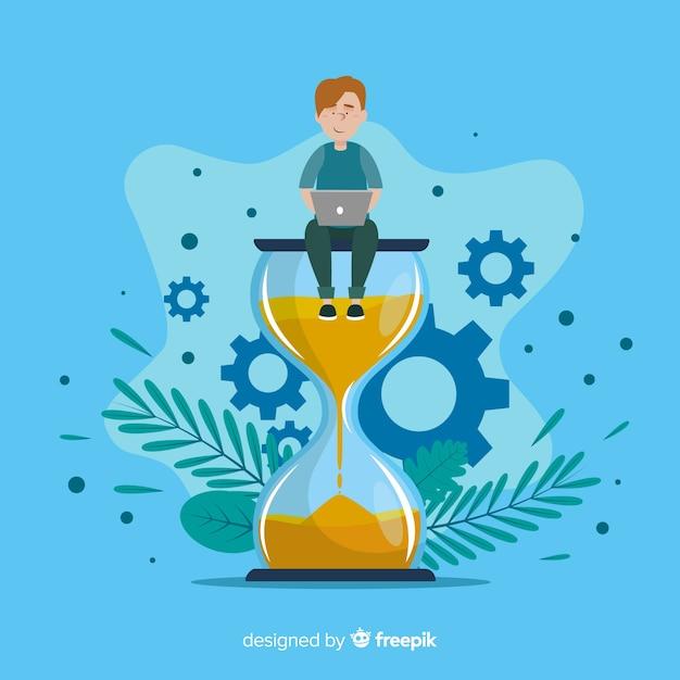 Time management concept illustratie Gratis Vector