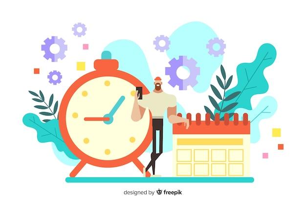 Time management concept Gratis Vector