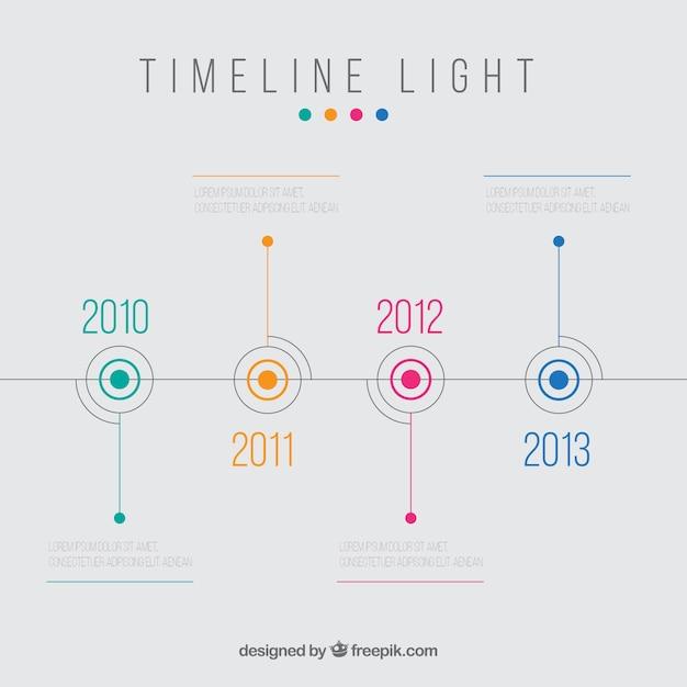 Timeline licht Premium Vector