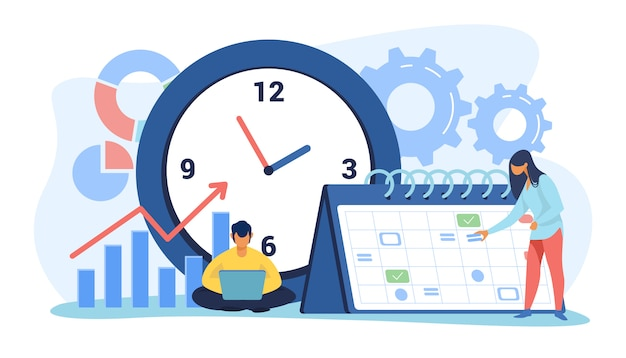 Timing en projectplanning Gratis Vector