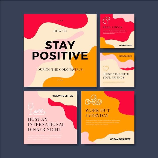 Tips om positief te blijven tijdens coronavirus Gratis Vector