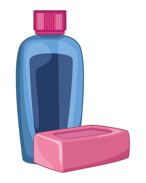 Toebehoren voor reiniging en hygiëne Premium Vector