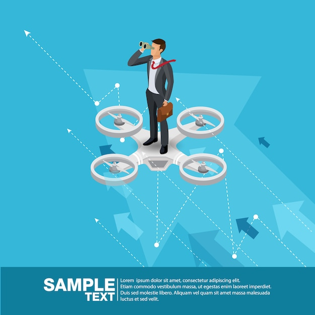 Toekomstige business leader concept finance manager business man. Premium Vector