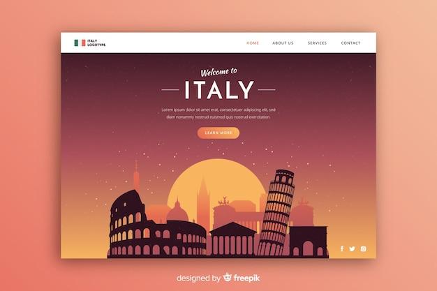 Toeristische uitnodiging voor italië sjabloon Gratis Vector