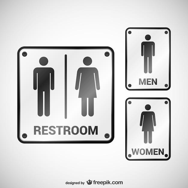 Toilet bewegwijzering Premium Vector