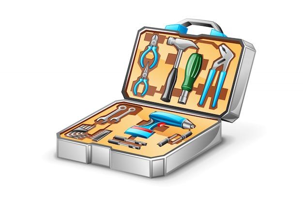 Tool kit illustratie Premium Vector