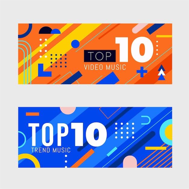 Top 10 beoordelingsbanners Premium Vector