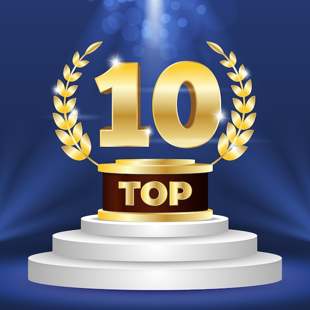 Top 10 beste podiumprijs Gratis Vector