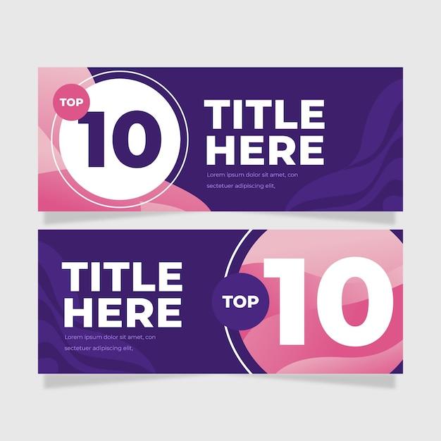 Top tien rating banners collectie Gratis Vector