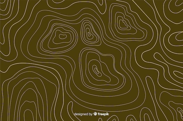 Topografische bruine lijnenachtergrond Gratis Vector