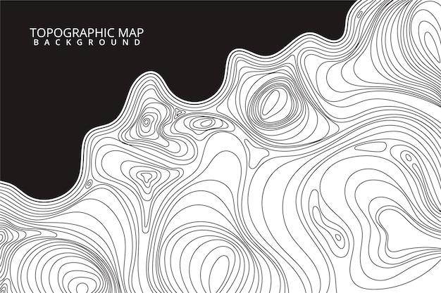 Topografische kaart achtergrondstijl Gratis Vector