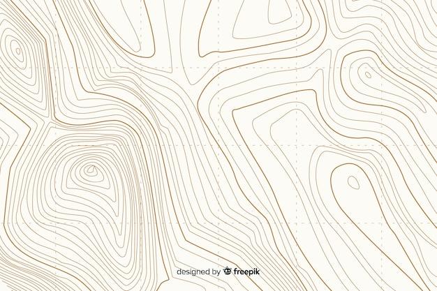 Topografische witte lijnen achtergrond Gratis Vector