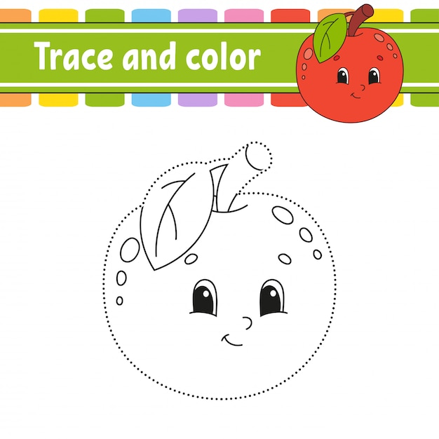 Traceer en kleur. Premium Vector