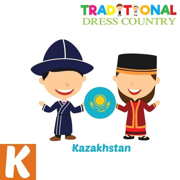 Traditioneel kledingsland Premium Vector