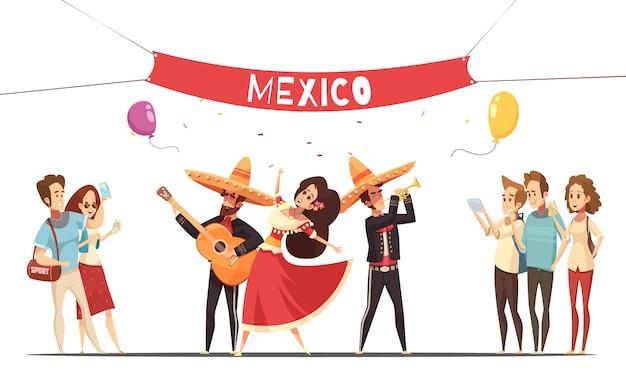Traditioneel mexicaans festival Gratis Vector