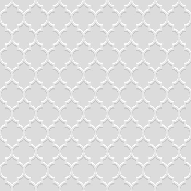 Traditioneel naadloos patroon in arabische stijl Premium Vector