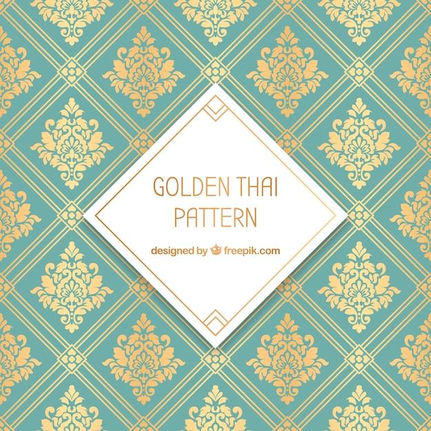 Traditioneel thais patroon met gouden stijl Gratis Vector