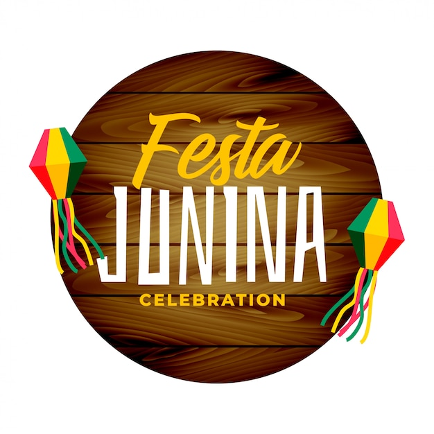 Traditionele festa junina Gratis Vector