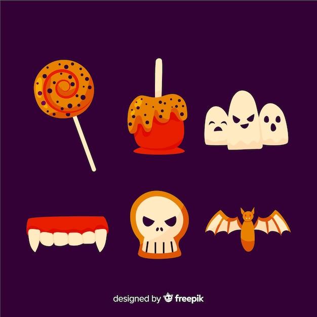 Traditionele halloween-snoepjes voor kinderen Gratis Vector