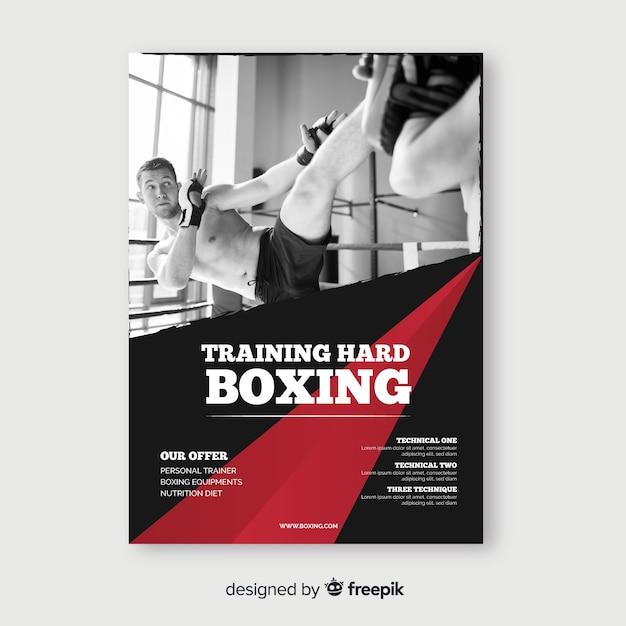 Training hard poster sjabloon Gratis Vector