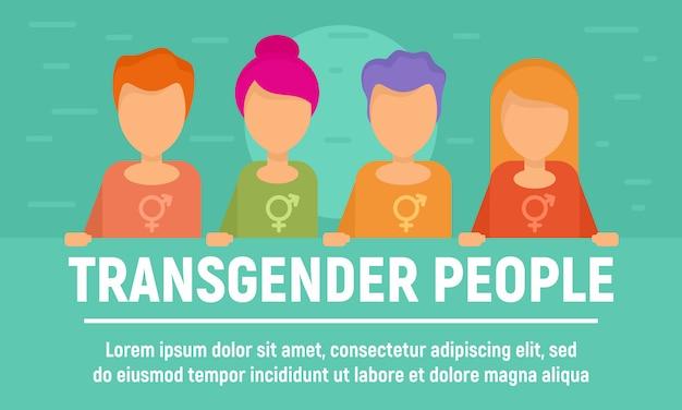 Transgender mensen banner Premium Vector
