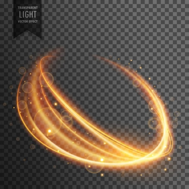 Transparant licht effect in golvende vorm Gratis Vector