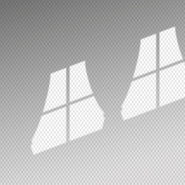 Transparant schaduwen-overlay-effect met gordijnen Gratis Vector