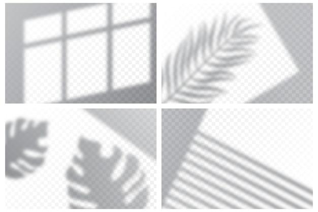 Transparant schaduwen-overlay-effect Premium Vector