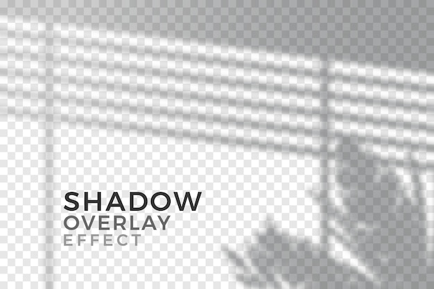 Transparant schaduwen-overlay-effectthema Premium Vector