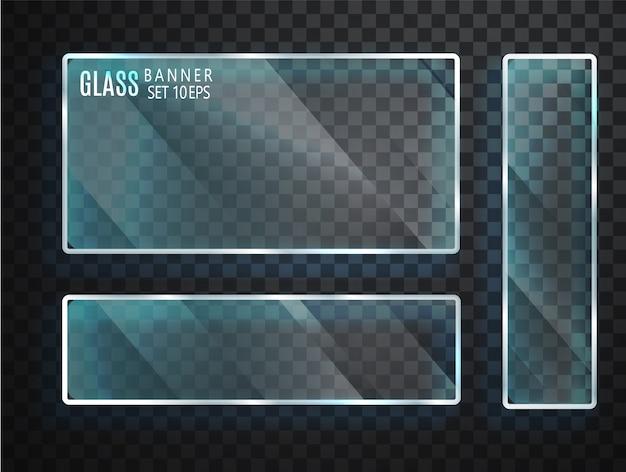 Transparante glazen set Premium Vector