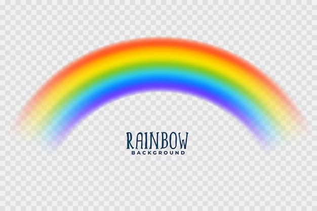 Transparante kleurrijke regenboog Gratis Vector