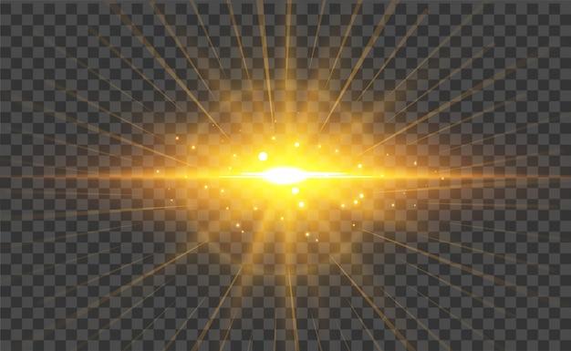 Transparante licht flare effect achtergrond Gratis Vector