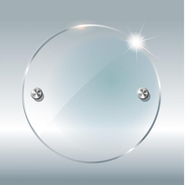 Transparante ronde cirkel. Premium Vector