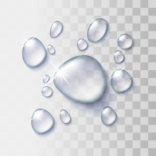 Transparante waterdruppel Premium Vector