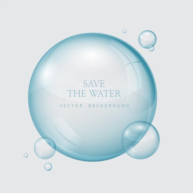 Transparante waterdruppeltjes, waterdaling Premium Vector