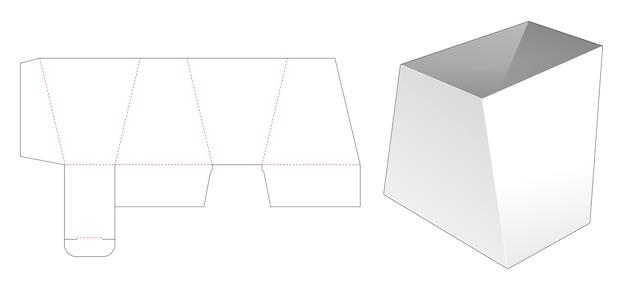 Trapeziumvormige kom gestanst sjabloon Premium Vector