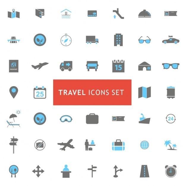 Travel icon set Gratis Vector